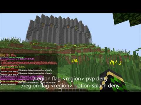 Minecraft how to Protect Your Server spawn for griefers