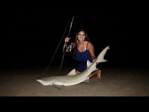 Fishing the Beach for SHARKS! (ft. Landshark Fishing)