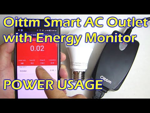 Oittm Smart AC Outlet with Energy Usage Monitor