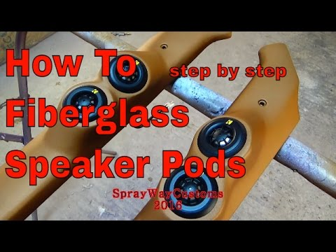 How To Fiberglass Speaker Pods / Tweeter Pods - Box Chevy Build - ALLKANDY FLAT / MATTE CLEAR