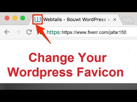 How to set or change wordpress favicon