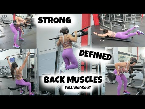Strong, Defined BACK MUSCLES | Full Workout