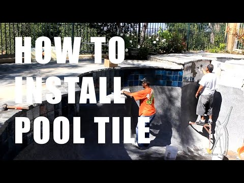 How to Install Pool Tile - Ultimate Pool Guy HD !!!