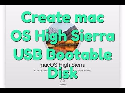 How to Create mac OS High Sierra 10.13 USB Bootable Disk?