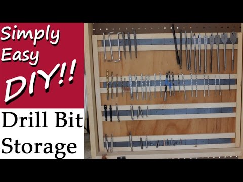 DIY: Drill Bit Storage Rack - Magnetic
