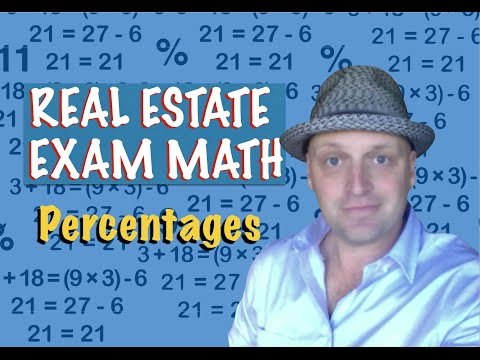 Real Estate Exam Math / Percentages