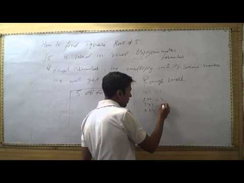How to Find Square Root of 5