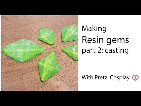 How to cast resin gems - Cosplay tutorial