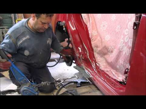 Toyota. The body side repair. Ремонт бока .