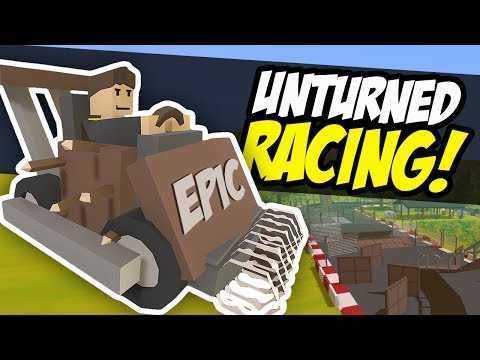 CRAZY RACE TRACK - Unturned Racing | Working Loop! (Funny Moments)