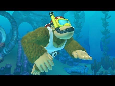 Donkey Kong Country Tropical Freeze - Walkthrough Part 4 - World 4