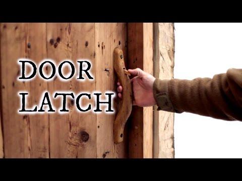 Our timber frame workshop: Door latch