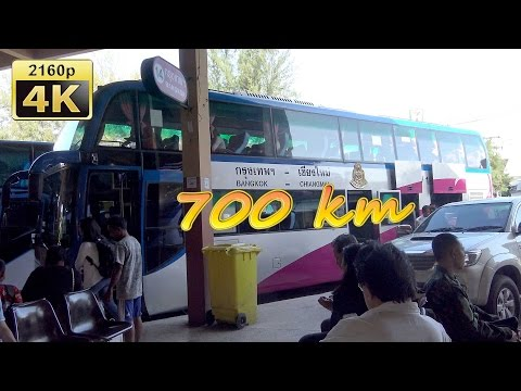 From Chiang Mai to Bangkok by Bus - Thailand 4K Travel Channel