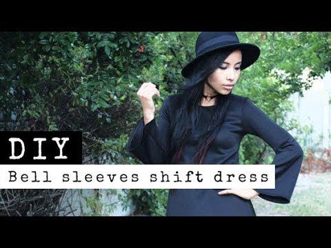 DIY Bell Sleeves Shift Dress   Raylene Harvey