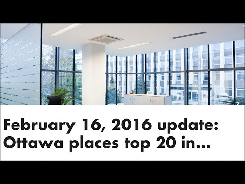 Ottawa places top 20 in the world for quality of living and an Ottawa real estate market update
