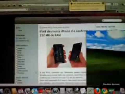 Qik - Macbook White rodando Windows XP by crocodilo dundee