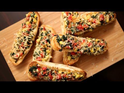 Spinach And Corn Sandwich Recipe | Open Sandwich Recipe | Ruchi's Kitchen