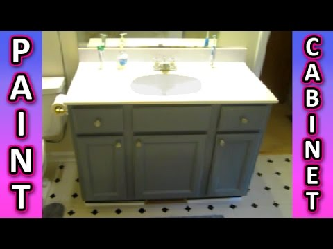 Paint a Cabinet + Bathroom Kitchen Cabinets HOW TO + Painting Tips EASY!!! vanity