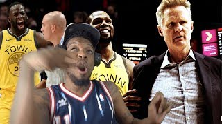 KERR EJECTED!! WARRIORS FINALLY LOSE! WARRIORS vs TRAIL BLAZERS HIGHLIGHTS