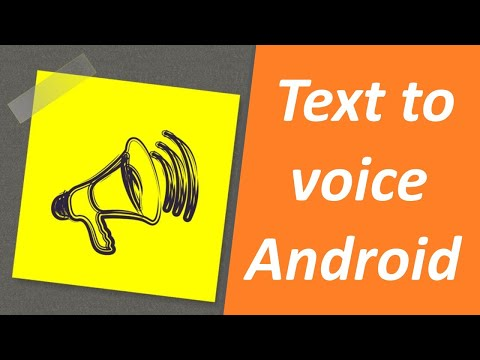 Convert Text To Voice Using Android