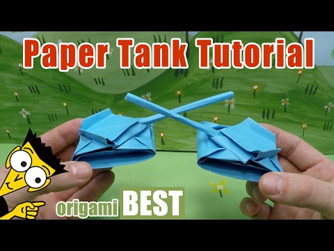How Do Battle Tank Of The Paper - Origami BEST #origami