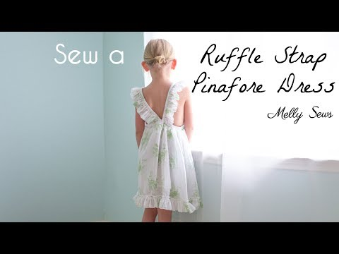 Sew a Ruffled Strap Pinafore Dress