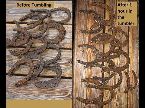 Iron Tumbler  -  Horseshoes before and after!