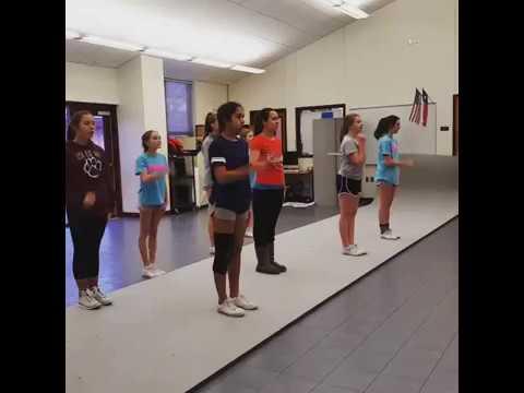 7th/8th grade cheer stunts straight up twist down