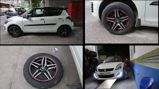 Finally Got Alloys On My Swift | 15 Inches Alloy For Swift | Best Tyre For Your Car | Alloys+Tyre