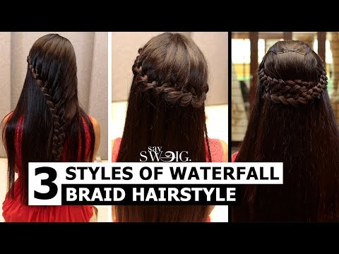How To Do a Waterfall Braid   Follow These Steps   Say Swag