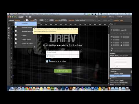 Adobe Muse CC 2014.1 Tutorial | Form Checkboxes and Captchas