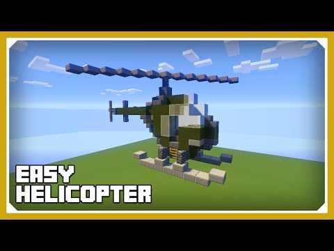 Minecraft: How To Build A Small Helicopter Tutorial (Easy Survival Minecraft Vehicle )