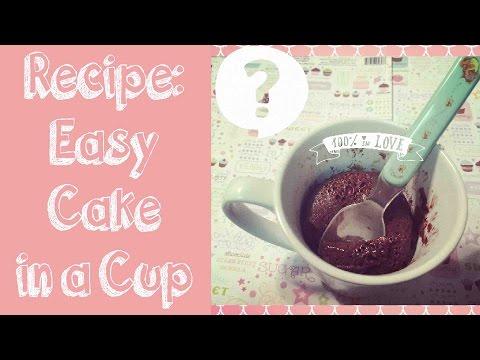 DIY Mug Cake [3 Ingredients]