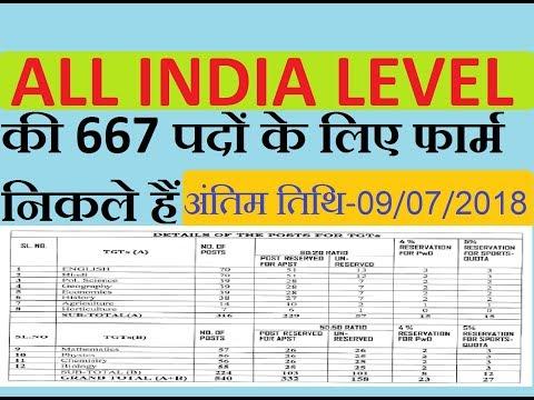PGT, TGT NEW RECRUITMENT NOTICE 2018 /667 POST/ ALL INDIA LEVEL /APPSC TEACHER BHARTI