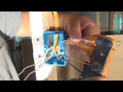 How to install a light switch box, light switch and how to wire the switch  video