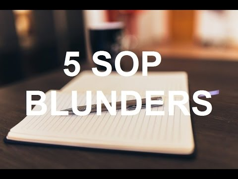 Top 5 SOP Writing Blunders That You Must Never Make | MS in US