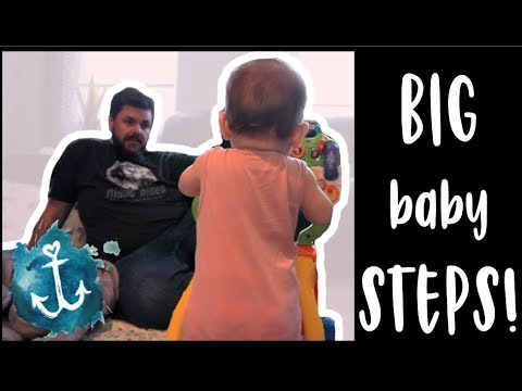 BABY LEARNS TO WALK (at 9 months old!) | WatersWife