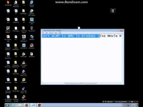 Convert .wlmp to .wmv very easy