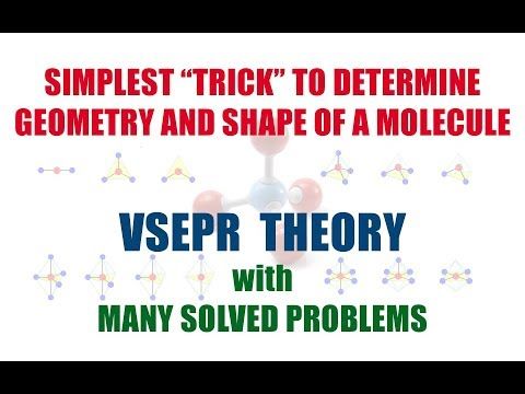 SIMPLEST TRICK- To Determine Shape and Geometry of Molecule | Trick For VSEPR Theory