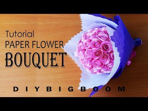 HOW TO MAKE PAPER FLOWER BOUQUET TUTORIAL EASY STEP BY STEP
