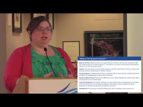 Western Libraries Lectures: Creating Open Education Resources (Oleen)