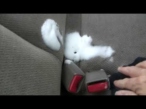 Tuff Stuff Removes Oil From Cloth Seats!