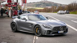 Cars Leaving Nürburgring Tankstelle (GENTLY): Porsche 991 GT3 RS, AMG GTR, BMW M2, M4, Audi RS4 etc