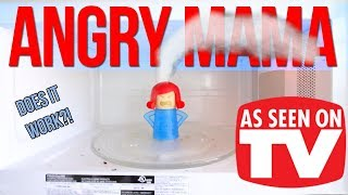 Testing out the ANGRY MAMA microwave toy!   As Seen On TV!