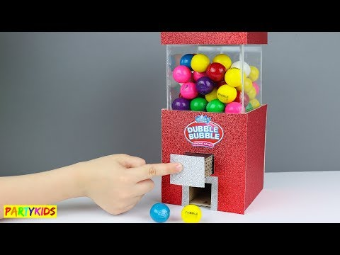 HOW TO MAKE A CANDY GUMBALL DISPENSER FROM CARDBOARD!