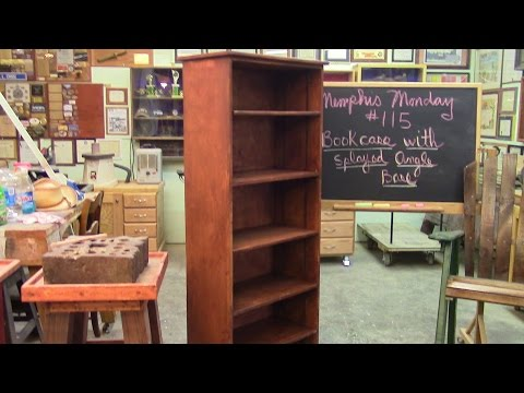 115 Building Bookcase with splayed angle base and movable shelves