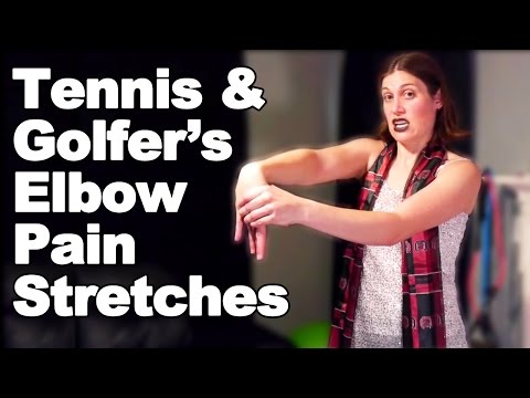 Tennis Elbow & Golfer's Elbow Pain Stretches - Ask Doctor Jo