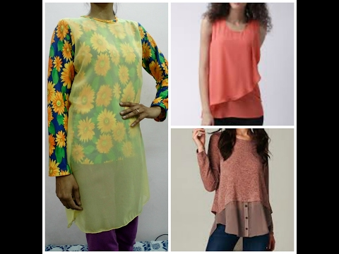 Cut & Sew Layered Kurti / Top / Gown / Tunic / Maxi Dress / It's a Trendy Designer Top with Net Top