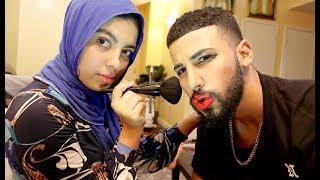 Fadah Did My Makeup Challenge!!