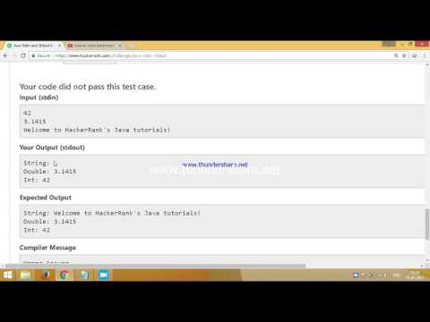 Solving java Stdin and Stdout 2 problem in hacker rank
